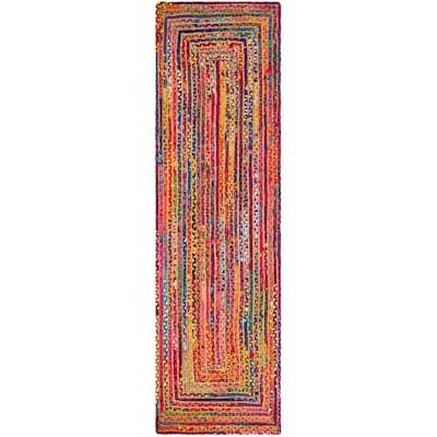Cape Cod Red/Multi 2 ft. x 6 ft. Border Runner Rug