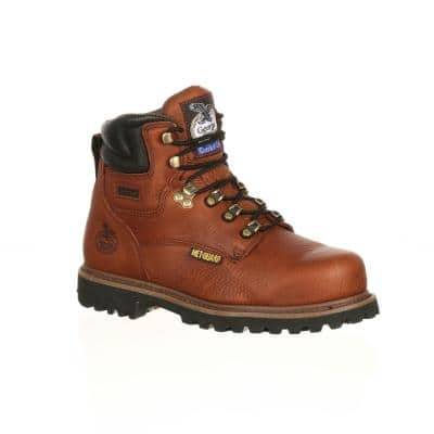 Men's Hammer Non Waterproof 6 inch Lace Up Work Boots - Steel Toe - BRIAR Brown 12 (M)