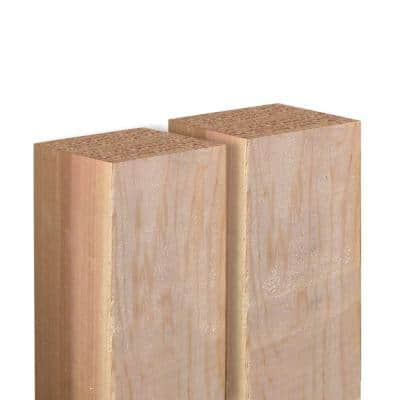 4 in. x 4 in. x 6 ft. Western Red Cedar Fence Post (2-Pack)