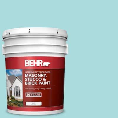 5 gal. #M460-2 Beachside Drive Satin Interior/Exterior Masonry, Stucco and Brick Paint