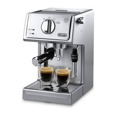 15-Bar Stainless Steel Espresso Machine and Cappuccino Maker with Manual Frother