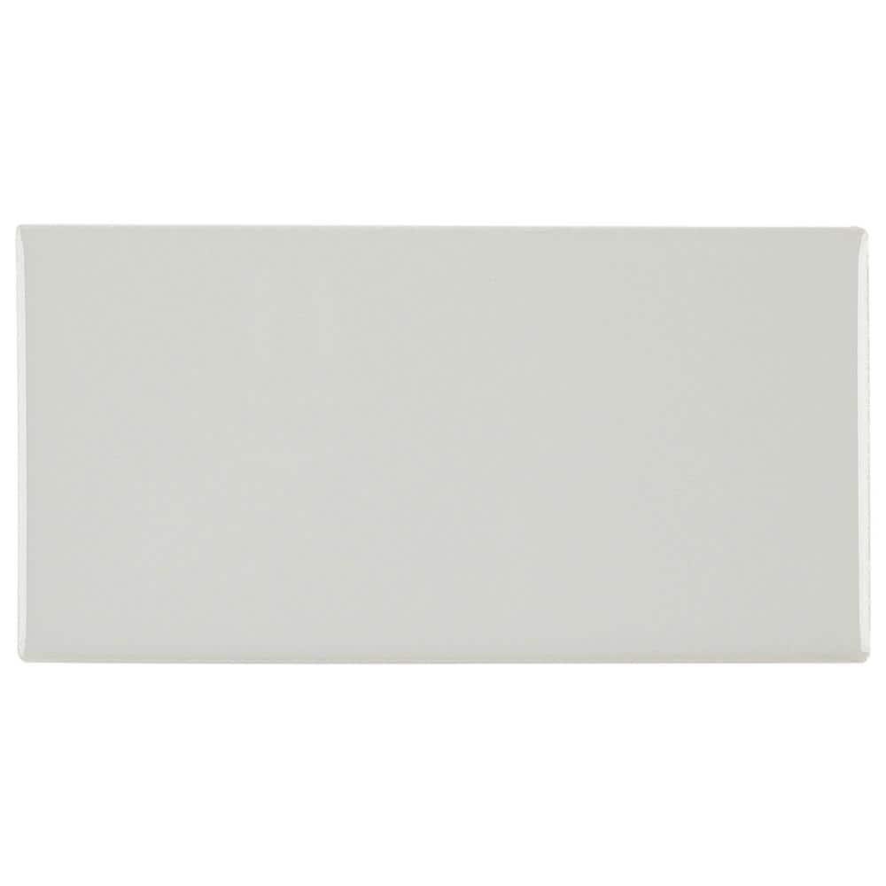 Daltile Restore 3 in. x 6 in. Glazed Ceramic Ash Gray Subway Tile (12.5 sq. ft. / case)