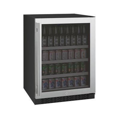 FlexCount 24 in. Wide Stainless Steel Beverage Center