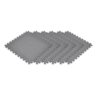 Gray 24 in. x 24 in. EVA Foam Non-Toxic Solid Color Interlocking Tiles (120 sq. ft. - 30 tiles)