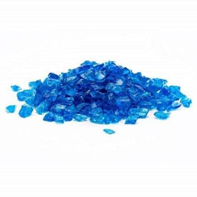 1/2 in. 10 lb. Medium Turquoise Landscape Fire Glass