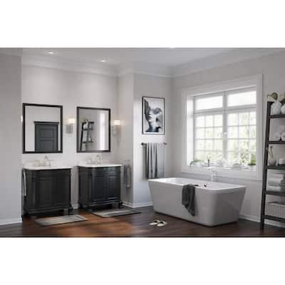 Kido 69 in. Acrylic Double Slipper Flatbottom Non-Whirlpool Center Drain Bathtub in White