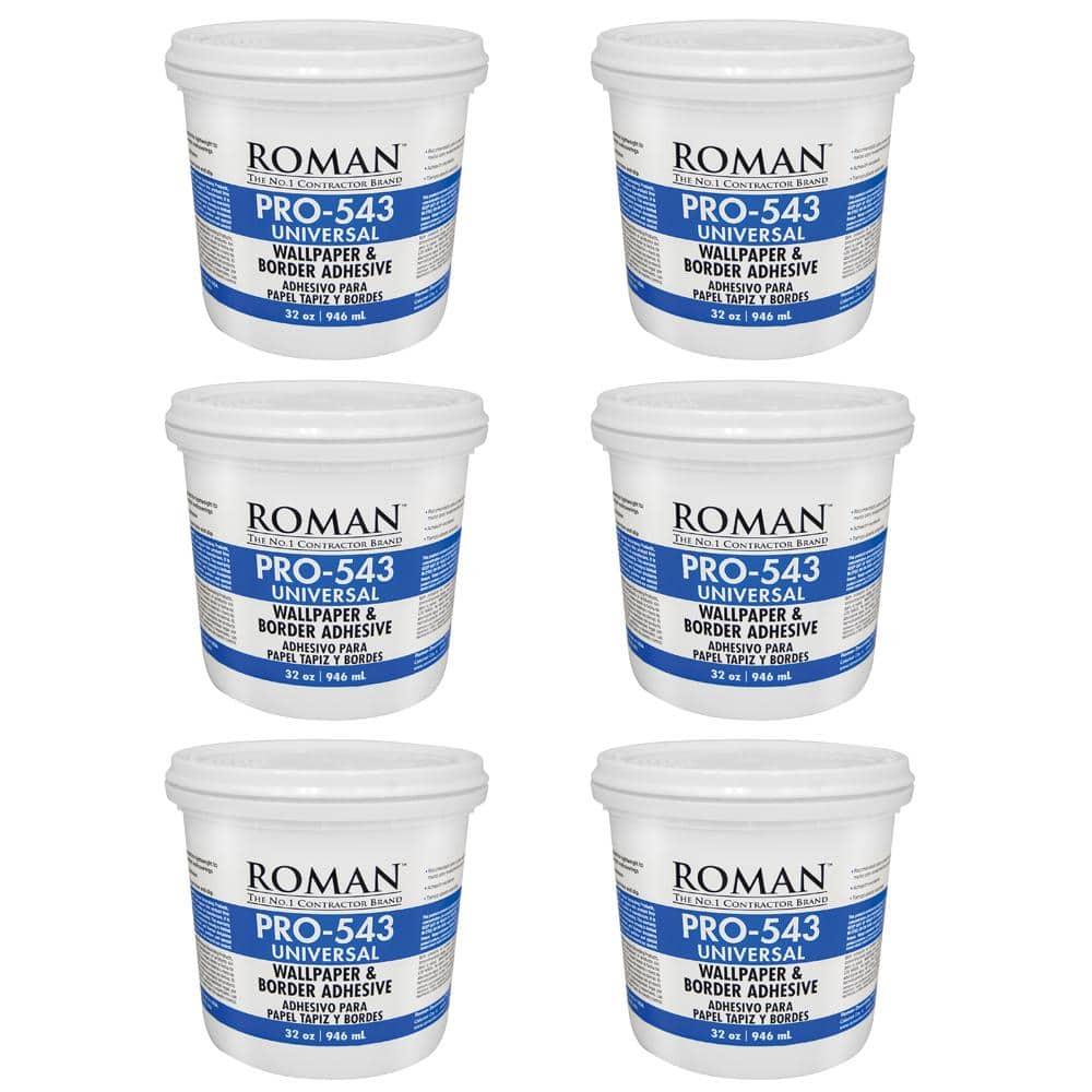 Roman 1 Qt. PRO-543 Universal Wallpaper Adhesive (6-Pack)