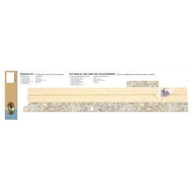 3/4 in. x 25-1/4 in. Valencia Laminate Endcap Kit in Spring Carnival