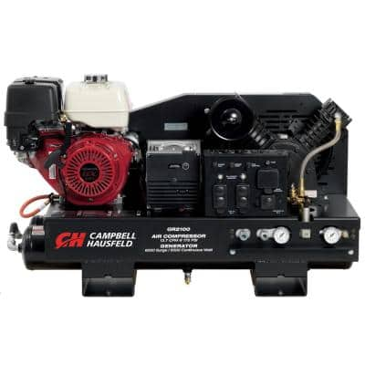 10 Gal. Stationary Gas Honda GX390 Engine/ 5000-Watt Generator (GR2100) Air Compressor/Welder Combination Unit