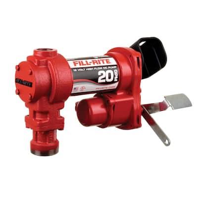 12-Volt 20 GPM 1/4 HP Fuel Transfer Pump (Pump Only)