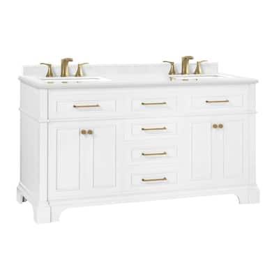 White Bathroom Vanities Bath The Home Depot