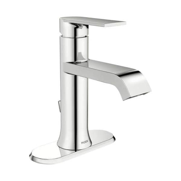 Moen Genta Single Hole Single Handle Bathroom Faucet In Chrome Ws84760 The Home Depot