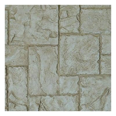 SAMPLE - 1-1/4 in. x 9 in. Sandstone Urethane Castle Rock Stacked Stone, StoneWall Faux Stone Siding Panel Moulding