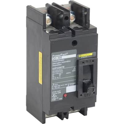 PowerPact 200 Amp 65kA 2-Pole Q-Frame Molded Case Circuit Breaker