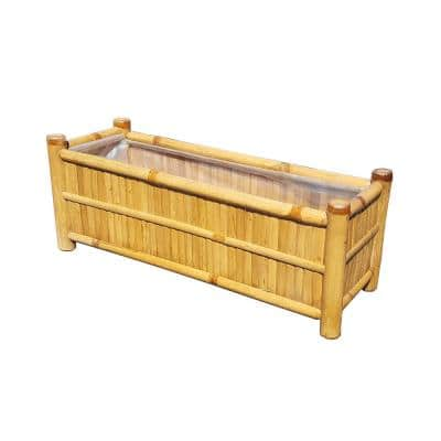 48 in. x 9 in. Bamboo Wood Window Boxes & Troughs