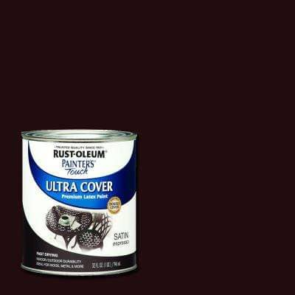 32 oz. Ultra Cover Satin Espresso General Purpose Paint