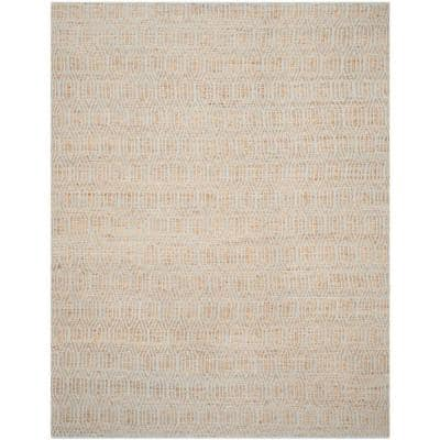 Cape Cod Silver/Natural 8 ft. x 10 ft. Geometric Interlace Area Rug