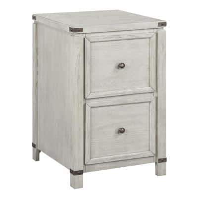 Baton Rouge Champagne Oak Gray 2-Drawer Decorative Vertical File Cabinet