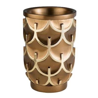 Mystic Owl Bronze Polyresin Decorative Vase