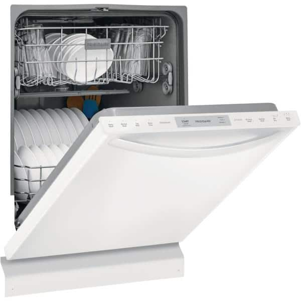 Frigidaire 24 In White Top Control Built In Tall Tub Dishwasher Energy Star 54 Dba Ffid2426tw The Home Depot
