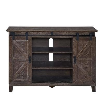 Nuami 48 in. Cerused Burnt Oak Engineered Wood TV Stand Fits TVs Up to 50 in.