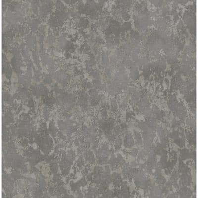 Imogen Charcoal Faux Marble Charcoal Wallpaper Sample
