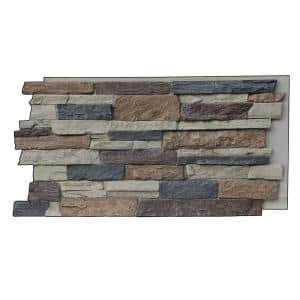 Canyon's Edge Faux Stack Stone 48-3/4 in. x 24-3/4 in. Nature Spirit Class A Fire Rated Urethane Siding Panel