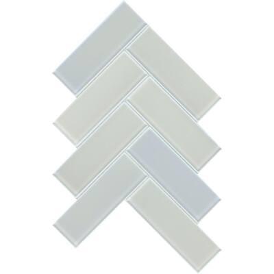 Irish Aura 8.39 in. x 11.42 in. Chevron Iridescent Glass Mosaic Tile (0.665 sq. ft./Each)