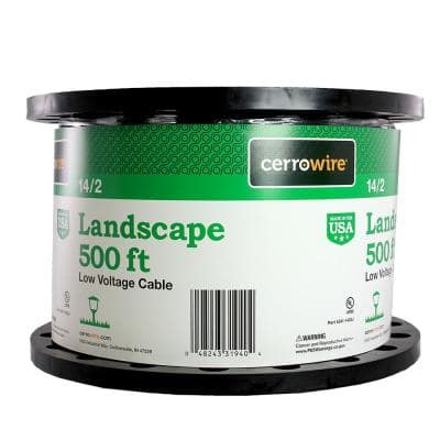 500 ft. 14/2 Black Stranded Landscape Lighting Wire