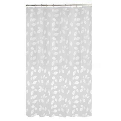 70 in. x 72 in. Just Leaves PEVA Waterproof Shower Curtain
