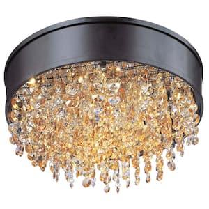 Mystic 16 in. Bronze Integrated LED Flushmount Light