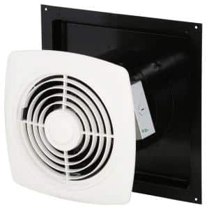 250 CFM Through-Wall Chain Operated Utility Exhaust Fan for Garage, Kitchen, Laundry and Rec Rooms