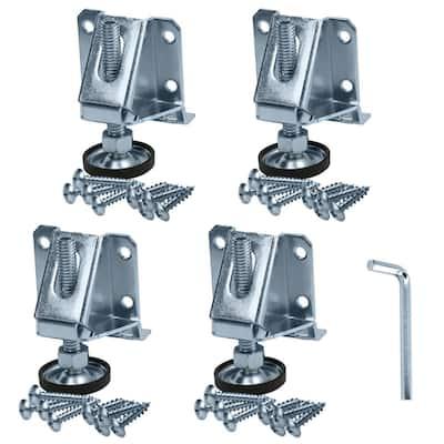 8000 lbs. Steel Screw On Heavy-Duty Capacity Adjustable Furniture Leg Leveler (4-Pack)