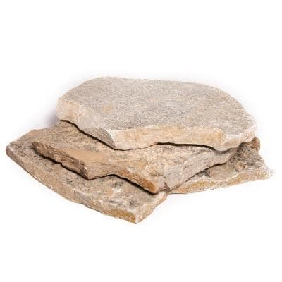 12 in. x 12 in. x 2 in. 30 sq. ft. Platinum Gold Natural Flagstone for Landscape Gardens and Pathways