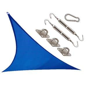 Coolhaven 18 ft. x 18 ft. Sapphire Triangle Shade Sail with Kit