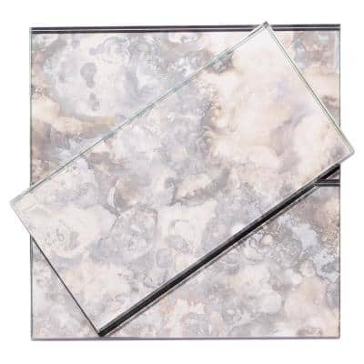 Lana Silver 3 in. x 6 in. Antique Glass Wall Tile (4 sq. ft. / Case)