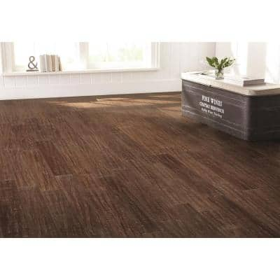 Hand Scraped Strand Woven Sandbrook 3/8 in. T x 5-1/8 in. W x 36 in. L Engineered Click Bamboo Flooring