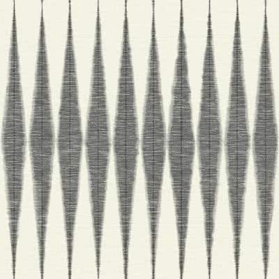 Handloom Black Paper Peel & Stick Repositionable Wallpaper Roll (Covers 34 Sq. Ft.)