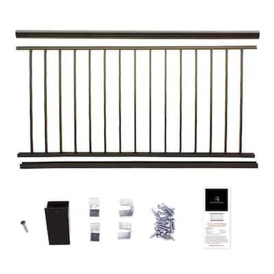 42 in. x 6 ft. Bronze Powder Coated Aluminum Preassembled Deck Railing