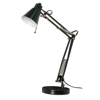 Olivia 21 in. Black Desk Lamp