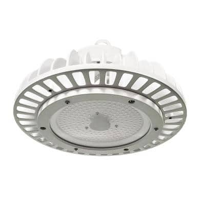 ECO 10 inch Round 250-Watt Equivalent Integrated LED White High Bay Light 17,651 Lumens 5000K Wet Rated DLC Premium
