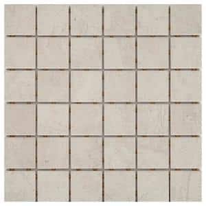 LuxeCraft 12 in. x 12 in. x 6.35 mm Feather Ceramic Mosaic Floor and Wall Tile (1 sq. ft./Each)
