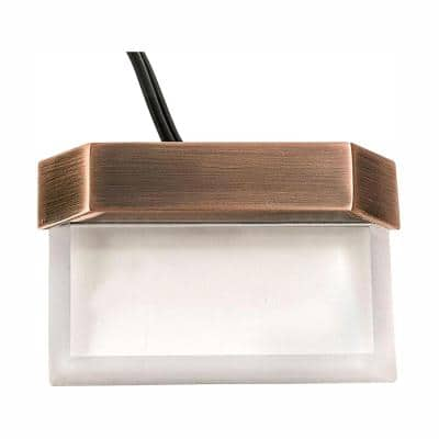 Low-Voltage Antique Brass Outdoor Integrated LED Plastic Clear Stair Light