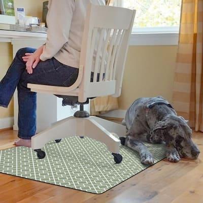 Tazekka 3 ft. x 4 ft. 9 to 5 Desk Chair Mat - Sage