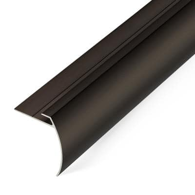 5.5 mm Dark Bronze 1.7 in. 74 in. Aluminum Tap Down Stair Nosing Transition Strip