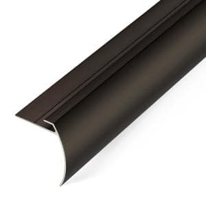 5.5 mm Dark 1.7 in. x 74 in. Aluminum Tap Down Stair Trim and Transition