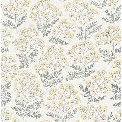Yellow Vinyl Peel & Stick Washable Wallpaper Roll (Covers 30.75 Sq. Ft.)
