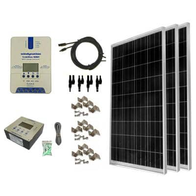 300-Watt Off-Grid Polycrystalline Solar Panel Kit with TrakMax MPPT 40 Amp Solar Charge Controller and Remote Meter