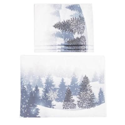 0.1 in. H x 20 in. W x 14 in. D Winter Wonderland Double Layer Christmas Placemats (Set of 4)