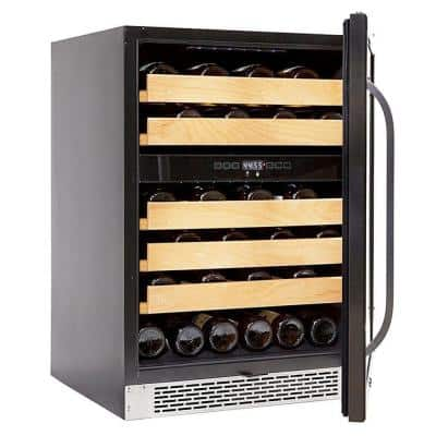 24 in. 46-Bottle 750 ml Dual Temperature Zone Built-In Wine Refrigerator / Cooler